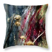 Weed Abstract Blend 1 Throw Pillow