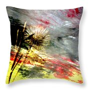 Weed Abstract Blend 2 Throw Pillow