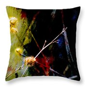 Weed Abstract Blend 3 Throw Pillow