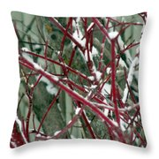 Weed Bush Throw Pillow
