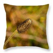 Weed Seed Head Throw Pillow