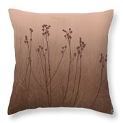 Weeds In The Fog Throw Pillow