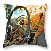 Weedy Steering Throw Pillow