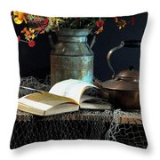Week Days Throw Pillow by Diana Angstadt