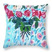 Weekend Roses Throw Pillow