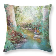 Weekends At The Creek Throw Pillow