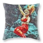 Weeki Wachee Mermaid Throw Pillow