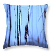 Weeping Forest Frost Throw Pillow