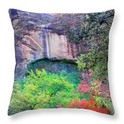 Weeping Rock At Zion National Park Throw Pillow
