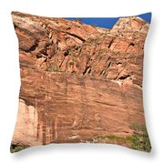Weeping Rock In Zion National Park Throw Pillow