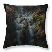 Weeping Rocks Throw Pillow