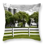 Weeping Willow Green Throw Pillow
