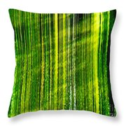 Weeping Willow Tree Ribbons Throw Pillow