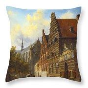 Weeshuis In Leiden Throw Pillow