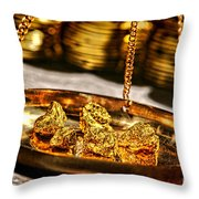 Weighing Gold Throw Pillow