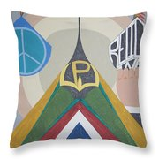 Weighing Peace Throw Pillow