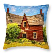 Weight Of The World Paint 2 Throw Pillow