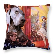 Weimaraner Art Canvas Print - Der Blaue Engel Movie Poster Throw Pillow