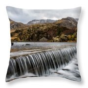 Weir At Ogwen Throw Pillow