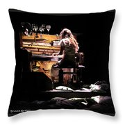 Weird Live Piano Throw Pillow by Stwayne Keubrick