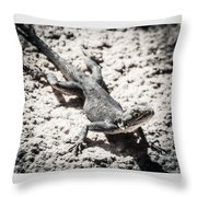 Weird Lizard Throw Pillow by Stwayne Keubrick