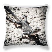 Weird Lizard Throw Pillow