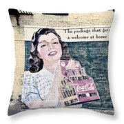 Welcome At Home Throw Pillow