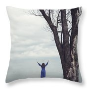Welcome Beautiful Day Throw Pillow