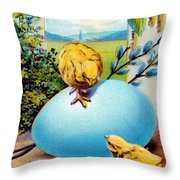 Welcome Easter Morning Throw Pillow
