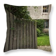 Welcome Gate Throw Pillow