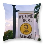 Welcome Home Banner Throw Pillow