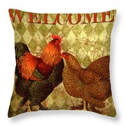 Welcome Rooster-61412 Throw Pillow