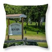 Welcome Sign? Throw Pillow