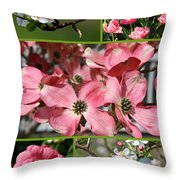 Welcome Spring Collage Throw Pillow