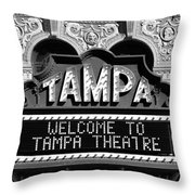 Welcome Tampa Throw Pillow