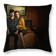 Welcome To Bates Motel Throw Pillow