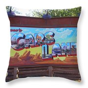 Welcome To Cars Land Throw Pillow