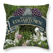 Welcome To Edgartown Throw Pillow