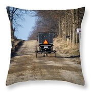 Welcome To Elkart County Throw Pillow