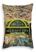 Welcome To Ellicott City Throw Pillow
