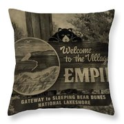 Welcome To Empire Michigan Throw Pillow