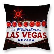 Welcome To Fabulous Las Vegas Throw Pillow