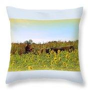Welcome To Gorman Farm In Evandale Ohio Throw Pillow