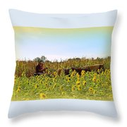 Welcome To Gorman Farm In Evandale Ohio Throw Pillow