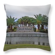 Welcome To Jekyll Island Throw Pillow