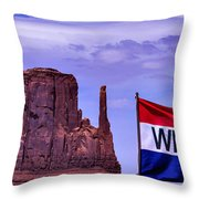 Welcome To Monument Valley Throw Pillow