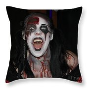 Welcome To My Horror House Throw Pillow