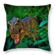 Welcome To My Park Tyrannosaurus Rex Throw Pillow