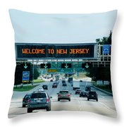 Welcome To New Jersey Throw Pillow