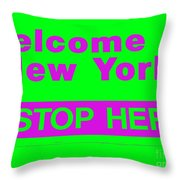Welcome To New York Throw Pillow